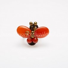 Butterfly stone ring (Orange)